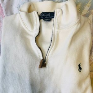 White Polo by Ralph Lauren Men's Turtle Neck Sweat